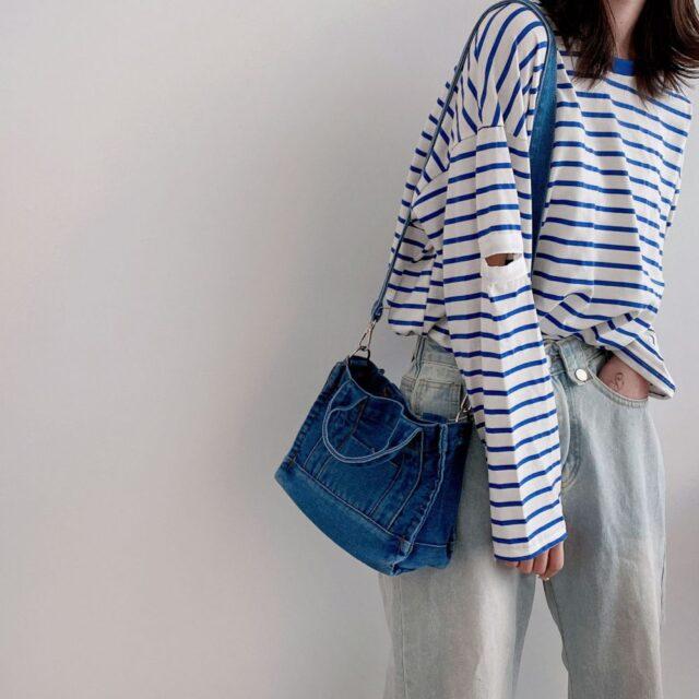 Sac bleu jean