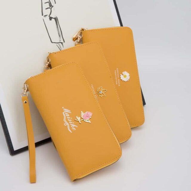 Pochette femme jaune